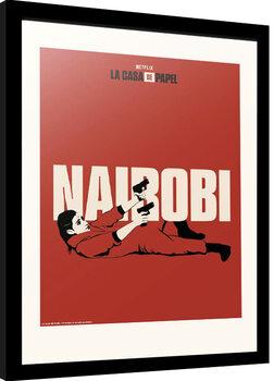 Innrammet plakat La Casa De Papel - Nairobi