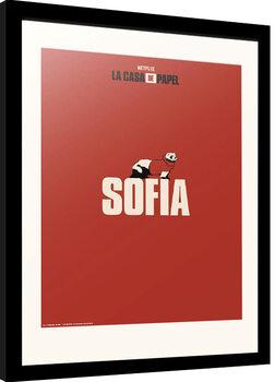 Innrammet plakat La Casa De Papel - Sofia