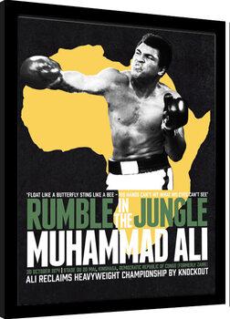 Innrammet plakat Muhammad Ali - Rumble in the Jungle