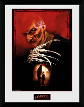 Innrammet plakat Nightmare On Elm Street - Collage
