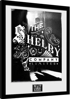 Innrammet plakat Peaky Blinders - Shelby Company