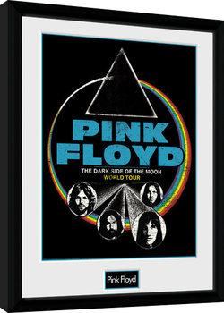 Innrammet plakat Pink Floyd - Dsom World Tour