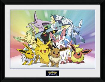 Innrammet plakat Pokemon - Eevee