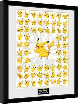 Innrammet plakat Pokemon - Pikachu
