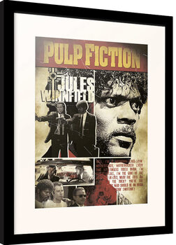 Innrammet plakat Pulp Fiction - Jules