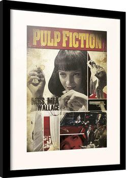 Innrammet plakat Pulp Fiction - Mia