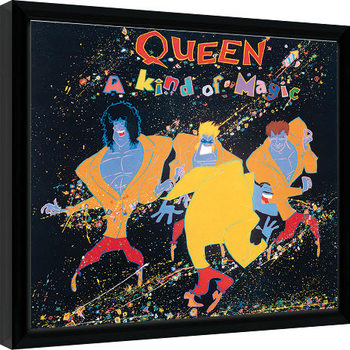 Innrammet plakat Queen - A Kind Of Magic