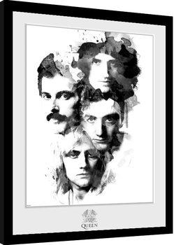 Innrammet plakat Queen - Faces