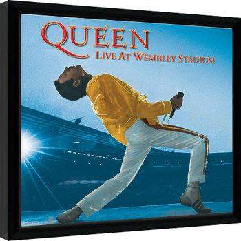 Innrammet plakat Queen - Live At Wembley