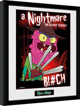 Innrammet plakat Rick & Morty - Scary Terry