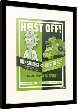 Innrammet plakat Rick & Morty - Season 4 Heist