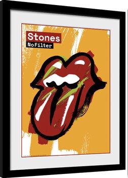 Innrammet plakat Rolling Stones - No Filter