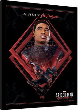 Innrammet plakat Spider-Man Miles Morales - Be Greater