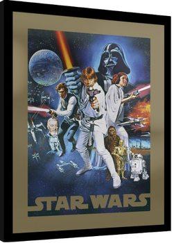 Innrammet plakat Star Wars - A New Hope