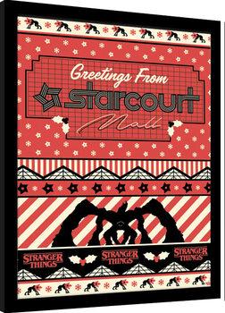 Innrammet plakat Stranger Things - Greetings From Starcourt Mall