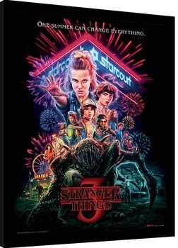 Innrammet plakat Stranger Things - Summer of 85