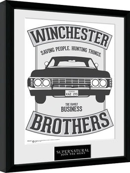 Innrammet plakat Supernatural - Winchester