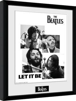 Innrammet plakat The Beatles - Let It Be