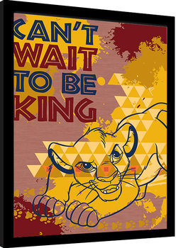 Innrammet plakat The Lion King - Can't Wait to be King