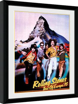 Innrammet plakat The Rolling Stones - On Tour 76
