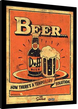 Innrammet plakat The Simpsons - Beer…