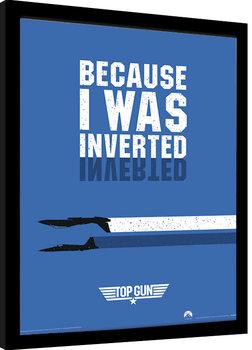 Innrammet plakat Top Gun - Inverted