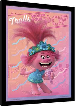 Innrammet plakat Trolls verdensturné - Poppy