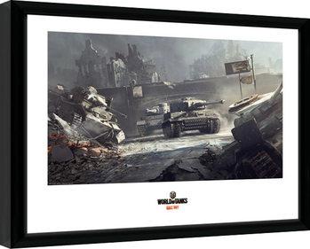 Innrammet plakat World of Tanks - German Tanks