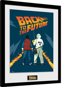 Back To The Future - Doc and Marty Innrammet plakat