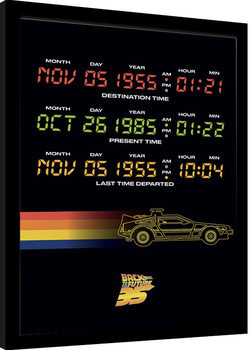 Back To The Future - Time Circuits Innrammet plakat