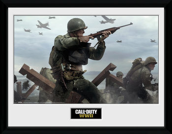 Call Of Duty: Stronghold - WWII Shooter Innrammet plakat