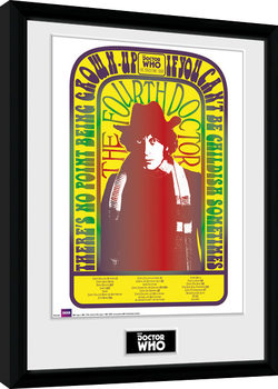 Doctor Who - Spacetime Tour 4th Doctor Innrammet plakat