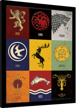 Game of Thrones - Sigils Innrammet plakat