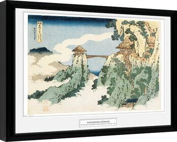 Hokusai - The Hanging Cloud Bridge Innrammet plakat