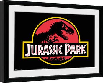Jurassic Park - Logo Innrammet plakat