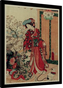 Kunisada - History of the Prince Genji, Princess Innrammet plakat