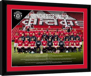 Manchester United - Team Photo 17/18 Innrammet plakat