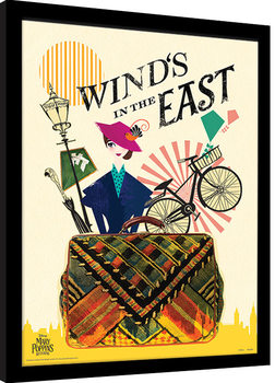 Mary Poppins Vender Tilbake - Wind in the East Innrammet plakat