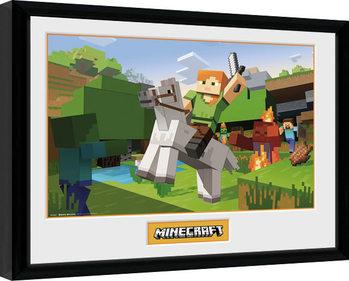 Minecratf - Zombie Attack Innrammet plakat