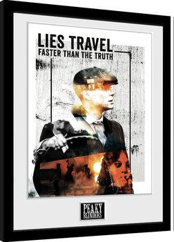 Peaky Blinders - Lies Travel Innrammet plakat