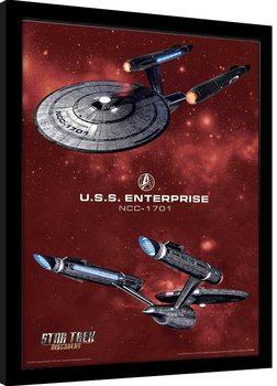 Star Trek: Discovery - Pike's Enterprise Innrammet plakat