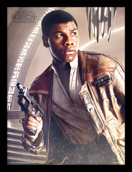 Star Wars: Episode 8 The last Jedi - Finn Blaster Innrammet plakat