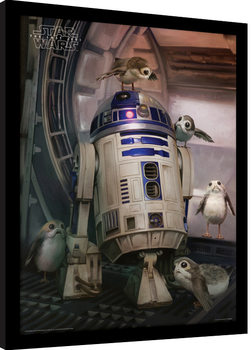 Star Wars: Episode 8 The last Jedi - R2-D2 & Porgs Innrammet plakat