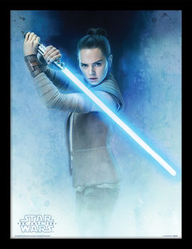 Star Wars: Episode 8 The last Jedi - Rey Lightsaber Guard Innrammet plakat