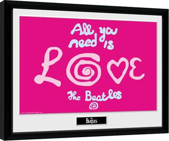 The Beatles - All You Need Is Love Innrammet plakat