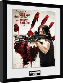 The Walking Dead - Daryl Bloody Hand Innrammet plakat