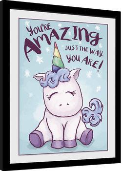 Unicorn - Amazing Innrammet plakat