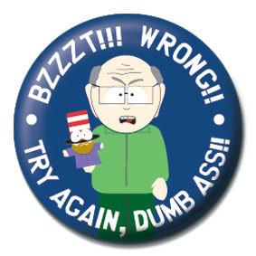 SOUTH PARK - Bzzzt!! Wrong!! Insignă