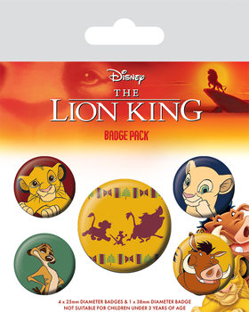 Set insigne The Lion King - Hakuna Matata