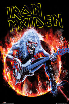 Iron Maiden - fear live - плакат (poster)